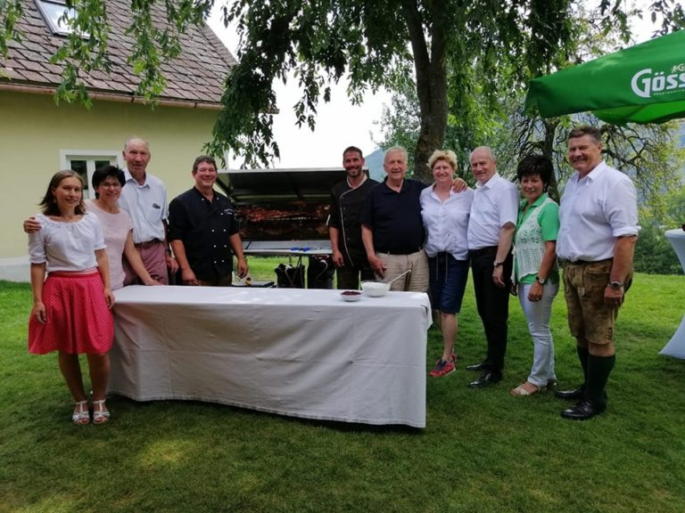 Geburtstagsfeier bei Eichbergers mit Landesrat Johann Hans Seitinger