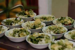 Salat, Kernöl, endivie, Kartoffeln, Krautsalat